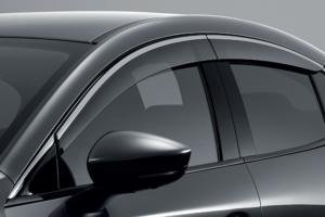 Side Window Deflectors with Chrome (4SD) ชุดคิ้วกันสาดขอบโครเมียม รุ่น 4 ประตู