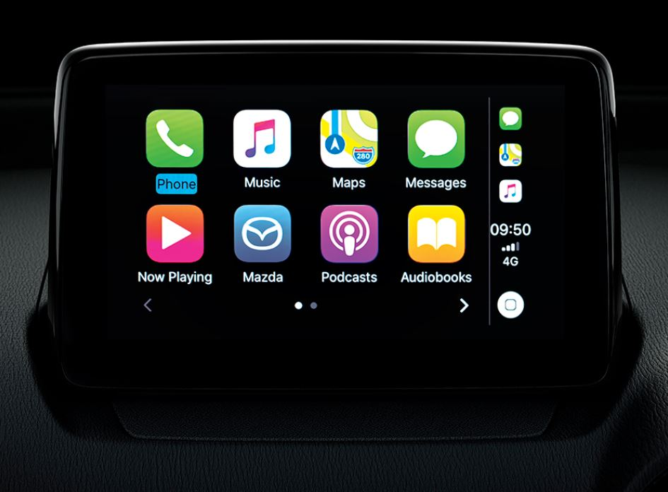 CENTER DISPLAY หน้าจอสี Center Display แบบสัมผัส ขนาด 7 นิ้ว พร้อม Center Commander รองรับ Apple CarPlay