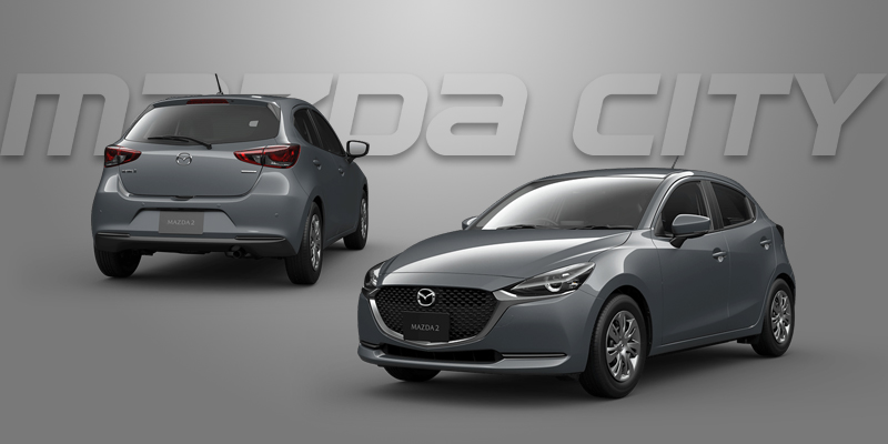New Mazda 2 Collection 2021_Polymetal Gray_Mazda City